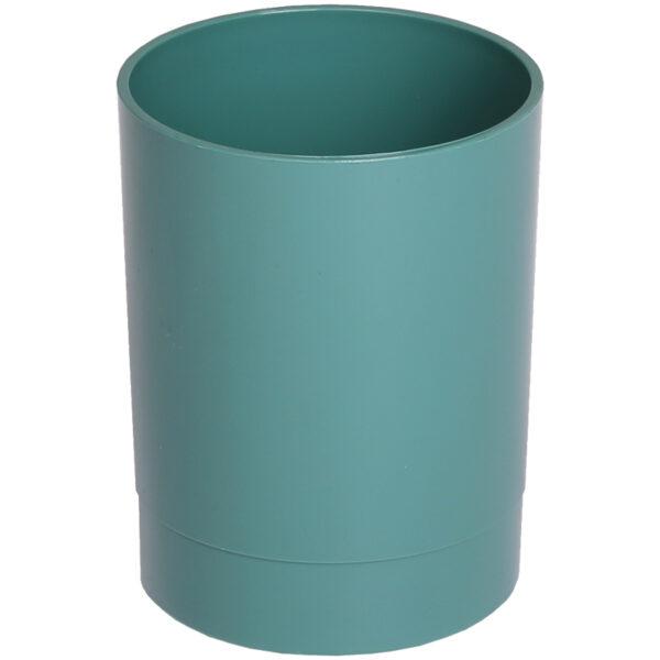 "Подставка-стакан Стамм ""Офис. Voyage. NY"", пластик, круглый, зеленый"