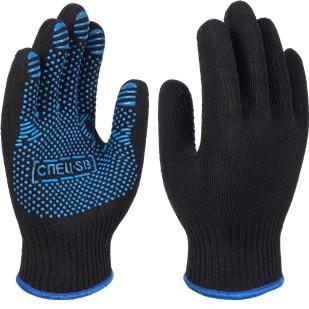 Перчатки х/б с ПВХ СПЕЦ-SB®PRO, черные