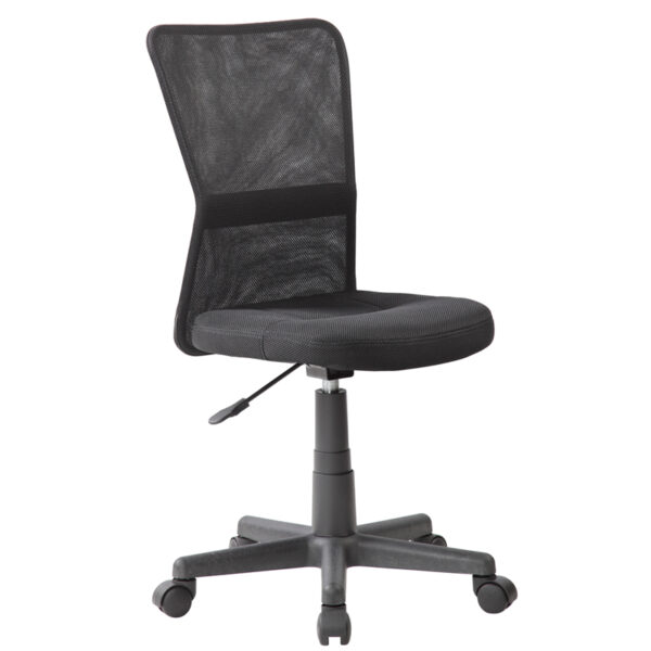 """Кресло оператора Helmi HL-M06 """"Compact"""", ткань, спинка сетка черная/сиденье TW черная, без подлокотников"""