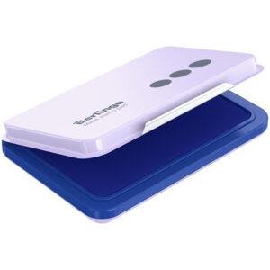 Штемпельная подушка Berlingo, 105*73мм, синяя, металлическая