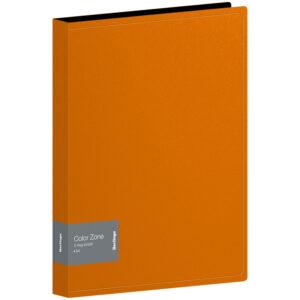 """Папка на 2 кольцах Berlingo """"Color Zone"""", 35мм, 1000мкм, оранжевая"""