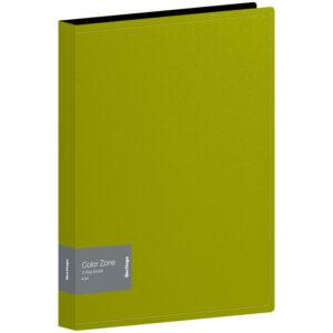 "Папка на 2 кольцах Berlingo ""Color Zone"", 35мм, 1000мкм, салатовая"