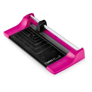Резак роликовый А4 Dahle Color ID 507, 320мм, до 8 листов, розовый, металлическое основание