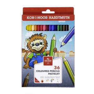 """Карандаши цветные Koh-I-Noor """"Lion"""", 36цв., заточен., картон, европодвес"""