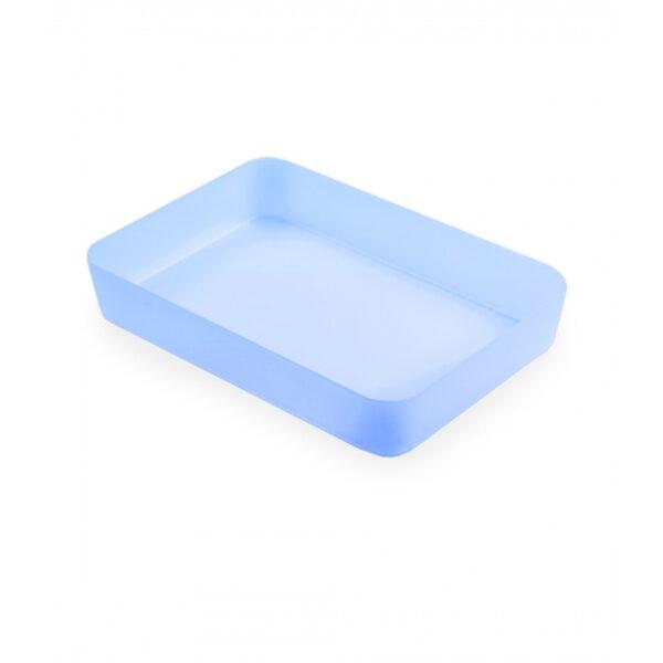 Лоток для канцелярских принадлежностей Стамм, 18,5*26,5*4,5см, тонированный голубой