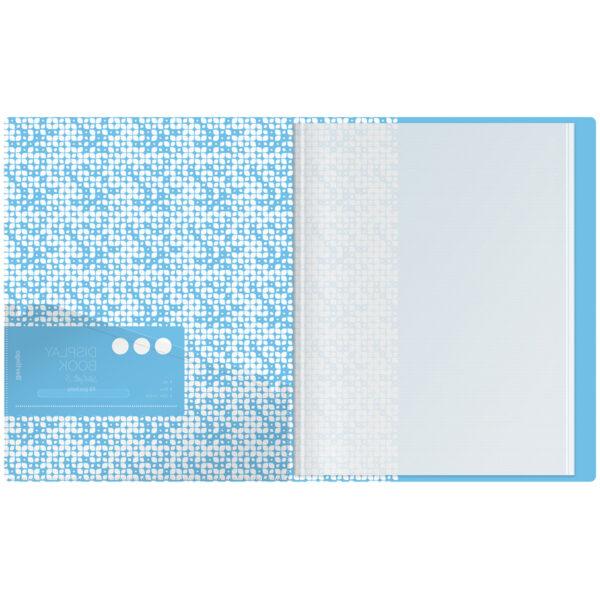 """Папка с 10 вкладышами Berlingo """"Starlight S"""", 17мм, 600мкм, голубая, с внутр. карманом, с рисунком"""