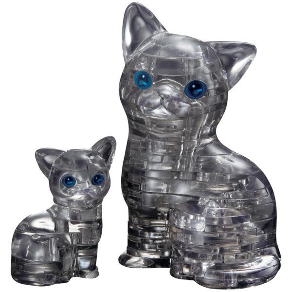 "Пазл 3D Crystal puzzle ""Кошка черная"", картонная коробка"