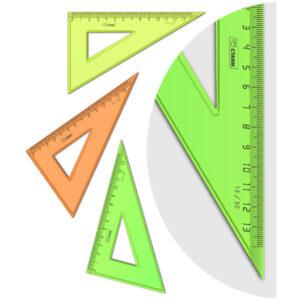 """Треугольник 30°, 13см Стамм """"Neon Crystal"""", ассорти"""