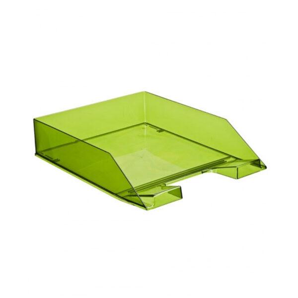 """Лоток для бумаг горизонтальный Стамм """"Каскад"""", зеленый лайм"""