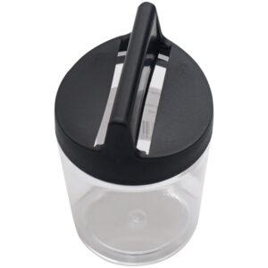 Скрепочница магнитная Стамм, без скрепок, прозрачная-черная