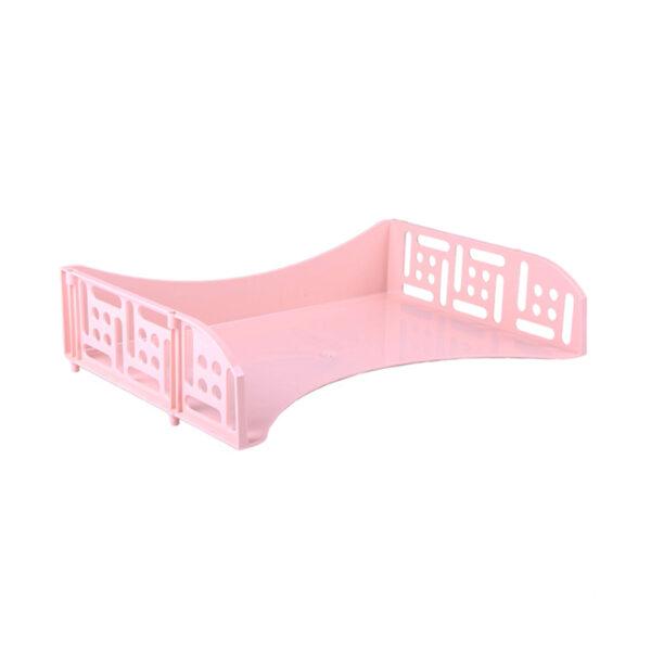 """Лоток для бумаг горизонтальный Стамм """"Field"""", широкая загрузка, розовый Paris"""