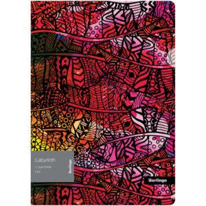"Папка-уголок Berlingo ""Labyrinth"" А4, 200мкм, с рисунком"