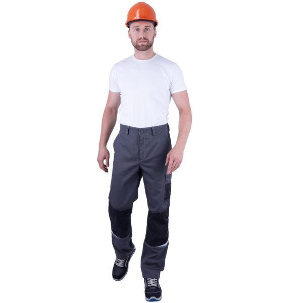 Брюки мужские ТУРБО SAFETY от механических воздействий и ОПЗ, серый/темно-серый