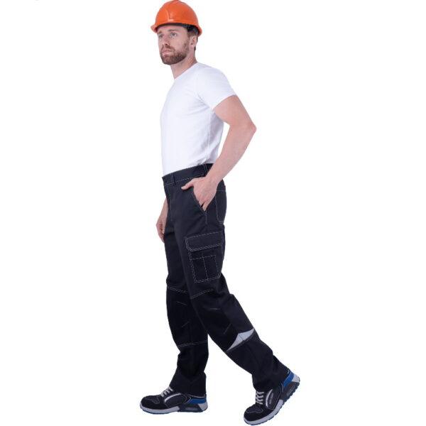 Брюки мужские ТУРБО SAFETY от механических воздействий и ОПЗ, темно-серый/чёрный