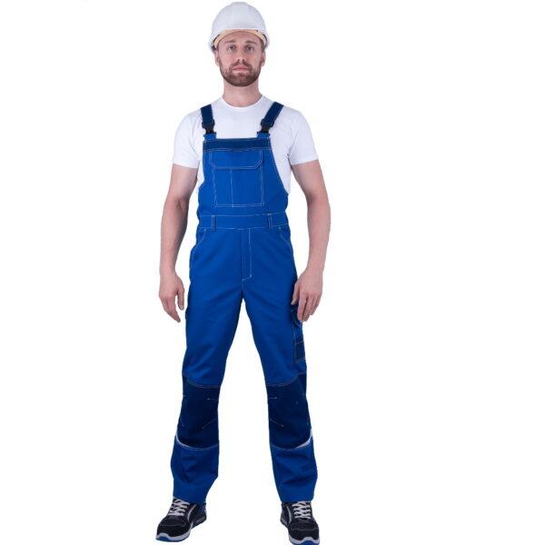 Полукомбинезон мужской ТУРБО SAFETY от механических воздействий и ОПЗ, василек/синий