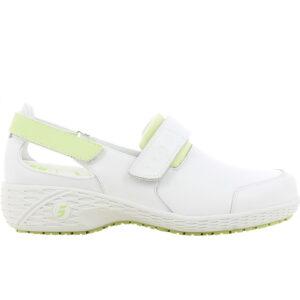 Полуботинки (тип туфли) SAMANTHA (САМАНТА), женские, кожаные ЭВА/резина (белый+зеленый/LGN)