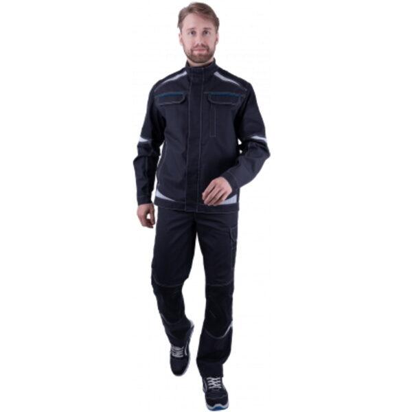 Куртка мужская ТУРБО SAFETY от механических воздействий и ОПЗ, темно-серая/чёрная
