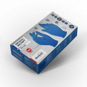 Перчатки ЭКСПЕРТ (DG-022), нитрил 0.12 мм, неопудренные, текстура на пальцах, цвет синий