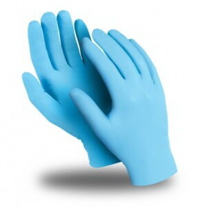 Перчатки ЭКСПЕРТ (DG-021), нитрил 0.08 мм, неопудренные, текстура на пальцах, цвет голубой