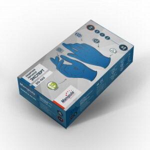 Перчатки ЭКСПЕРТ (DG-043), латекс, 0.12 мм, неопудренные, текстура на пальцах, цвет синий