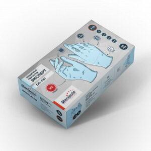Перчатки ЭКСПЕРТ (DG-081), винил 0.08 мм, неопудренные, цвет синий