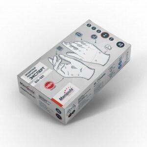 Перчатки ЭКСПЕРТ (DG-021), нитрил 0.08 мм, неопудренные, текстура на пальцах, цвет белый