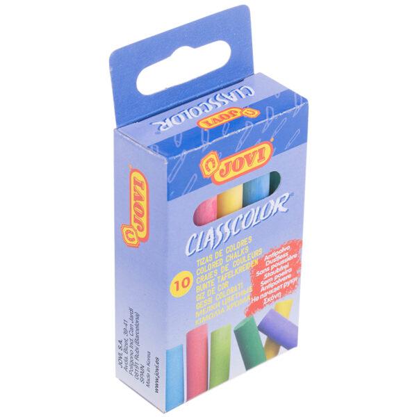 Мелки цветные JOVI, 10цв., круглые, картонная коробка, европодвес