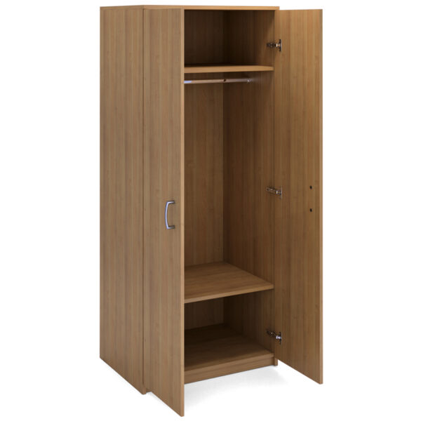 Шкаф для одежды двухдверный с горизонтальной штангой МФ Виско Стиль/Орех, 820*580*2030