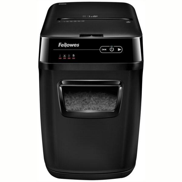 Уничтожитель документов Fellowes FS-46536 AutoMax 200C, автоподача, 4 ур. секр. 4x38мм, 32л, СD, автореверс
