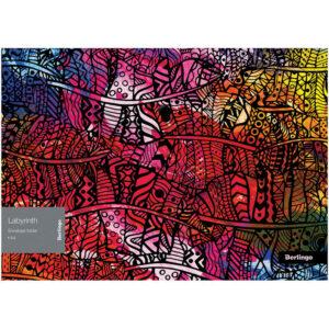 """Папка-конверт на кнопке Berlingo """"Labyrinth"""" A4, 180мкм, с рисунком"""