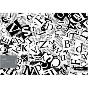 "Папка-конверт на кнопке Berlingo ""Swift"" A4, 180мкм, с рисунком"