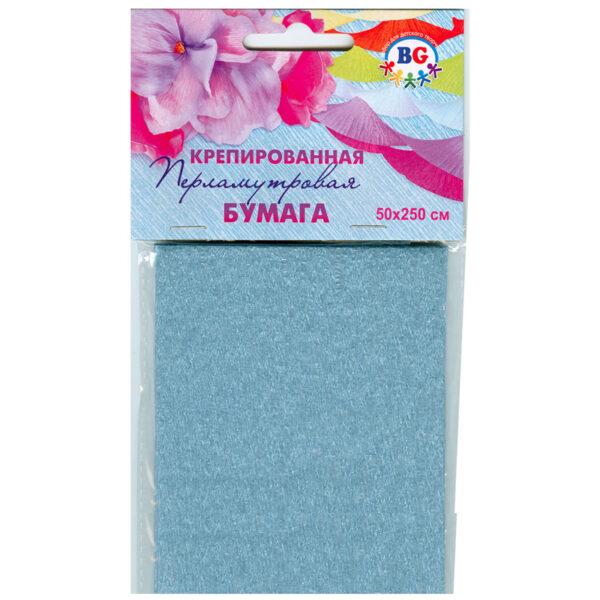 Набор крепированной перламутровой цветной бумаги BG, 500*250мм, в пакете с европодвесом