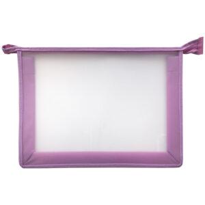 Папка для тетрадей 1 отделение, А4, ArtSpace прозрачная/сиреневая, пластик, на молнии